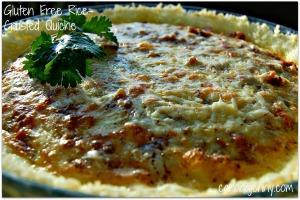 Gluten Free Rice-Crusted Quiche