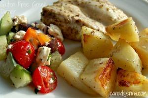 Gluten Free Greek Chicken Dinner - Canada Jenny